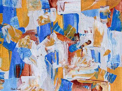 Art Print featuring the painting Orange And Blue by Heidi Smith