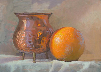Orange And Copper Art Print by Peter Orrock