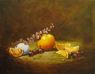 Painting - Orange And Egg by Carol Hart