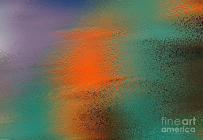 Digital Art - Orange And Green Dancing by Danuta Bennett