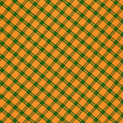 Orange And Green Plaid Cloth Background Art Print by Keith Webber Jr