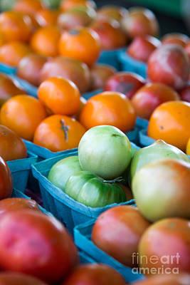 Orange And Green Tomatoes Art Print