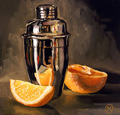 Painting - Orange And Martini by Maurice Morgan II