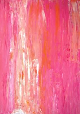 Royalty-Free and Rights-Managed Images - Linear Color - Pink and Orange Abstract Art Painting by CarolLynn Tice