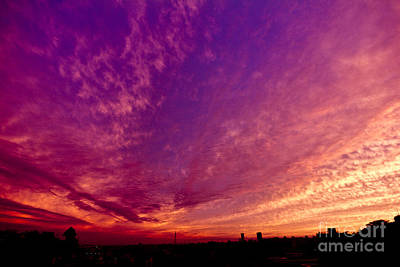Photograph - Orange And Purple Clouds Sunset View From The Balcony by Beverly Claire Kaiya