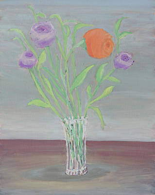 Painting - Orange And Purple Flowers by Carmela Cattuti