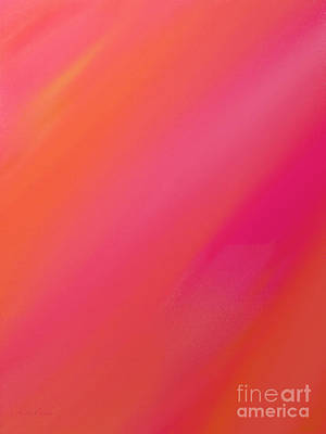 Raspberry Digital Art - Orange And Raspberry Sorbet Abstract 1 by Andee Design