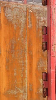 Photograph - Orange And Red Hinges by Anita Burgermeister