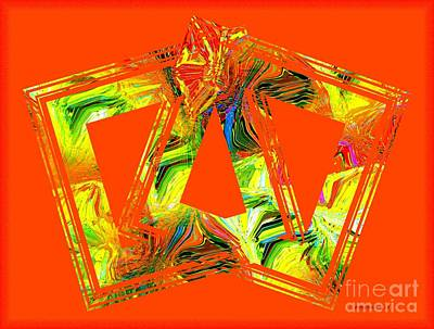 Orange And Yellow Art Print by Mario Perez