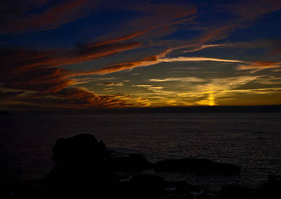 Surf Photograph - Orange And Yellow Skies by Paul Howarth