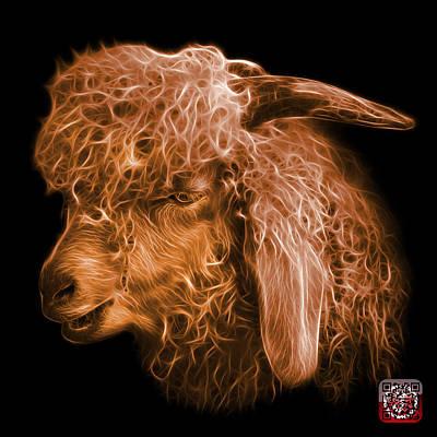 Digital Art - Orange Angora Goat - 0073 F by James Ahn