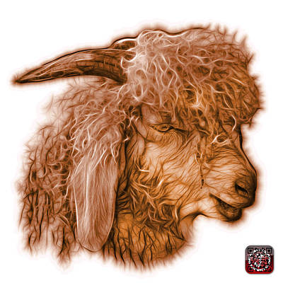 Digital Art - Orange Angora Goat - 0073 Fs by James Ahn