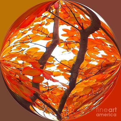 Orange Art Deco Art Print by Scott Cameron
