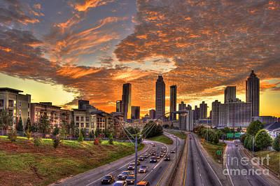Photograph - Orange Atlanta Sunset by Reid Callaway