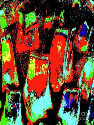 Orange Bark 0001 7 Art Print by Nina Kaye