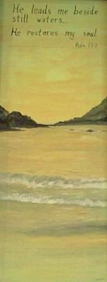 Orange Beach Art Print by Christy Saunders Church