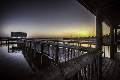 Pier Digital Art - Orange Beach Pier Sunrise by Michael Thomas