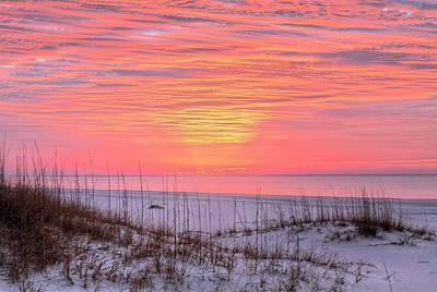 Orange Beach Sunrise Art Print