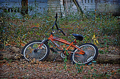 Photograph - Orange Bicycle by Linda Brown