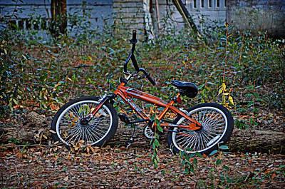 Photograph - Orange Bicycle by Linda Brown