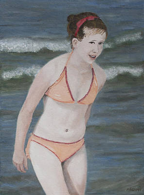 Painting - Orange Bikini by Masami Iida