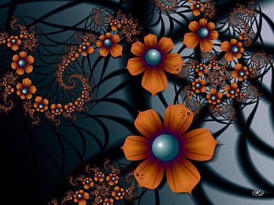 Digital Art - Orange Blossoms by Kiki Art