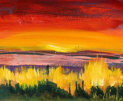 Painting - Orange Brush by Les Leffingwell