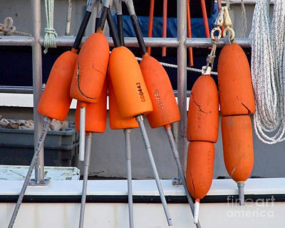 Photograph - Orange Buoys by Kristen Fox