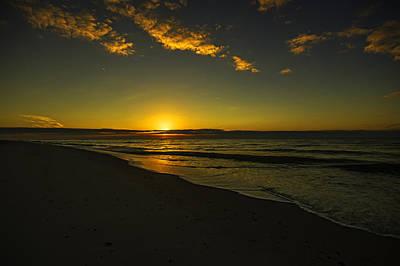 Digital Art - Orange Burst Sunrise by Michael Thomas