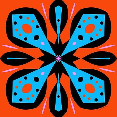Digital Art - Orange Butterfly by Marcela Bennett