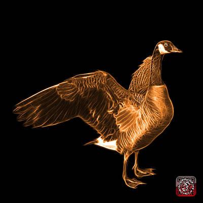 Mixed Media - Orange Canada Goose Pop Art - 7585 - Bb  by James Ahn
