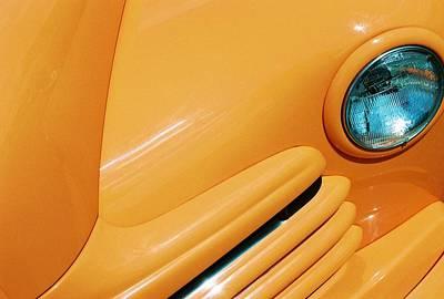 Orange Car Art Print by Daniel Thompson