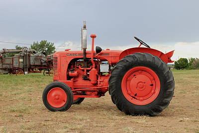 Orange Case Tractor Art Print