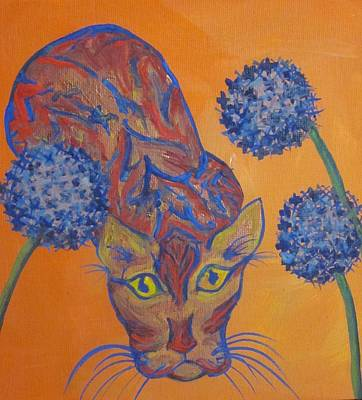 Orange Cat Art Print by Cherie Sexsmith