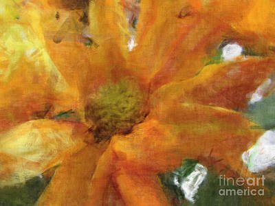 Orange Chrysanthemem Photoart Art Print