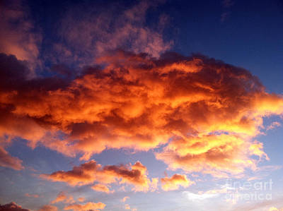 Orange Clouds Art Print