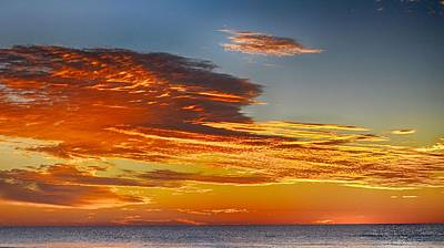 Photograph - Orange Clouds by Kristina Deane