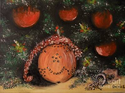 Painting - Orange Clover Christmas by Laurie L