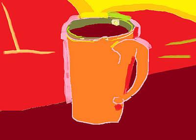 Painting - Orange Coffee by Anita Dale Livaditis