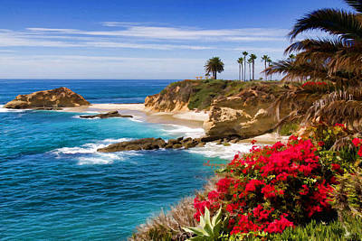 Orange County Coastline Art Print