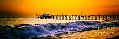 Orange County Panoramic Sunset Picture Art Print by Paul Velgos