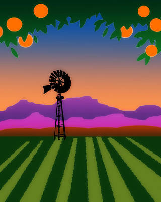 Digital Art - Orange County by Timothy Bulone