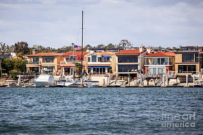 Upscale Photograph - Orange County Waterfront Homes In Newport Beach by Paul Velgos