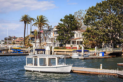 Upscale Photograph - Orange County Waterfront Homes With Duffy Boats by Paul Velgos
