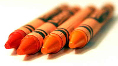 Photograph - Orange Crayons by Joseph Skompski