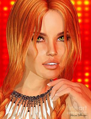 Mixed Media - Orange Crush by Alicia Hollinger