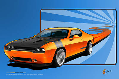 Digital Art - Orange Crush by Doug Schramm