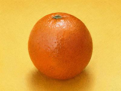 Art Print featuring the digital art Orange by David Blank