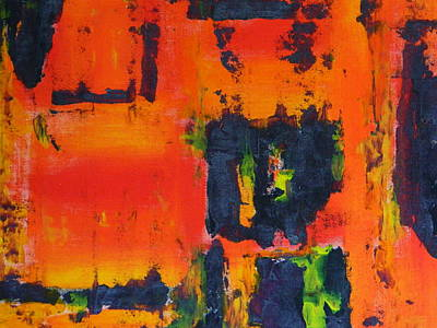 Art Print featuring the painting Orange Day by Everette McMahan jr