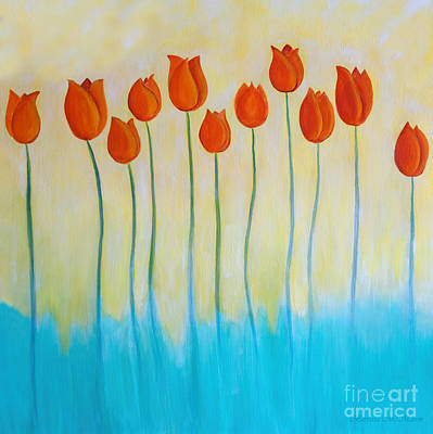 Painting - Orange Delight In Spring by Barbara McMahon